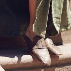 Free People | 'At Ease' Snake Scale Loafer Mules